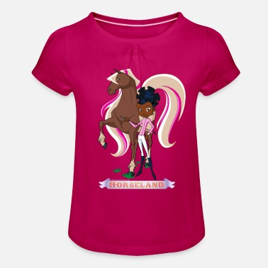 Calypso Horseland Molly & Calypso Pose - Girls' Ruffle T-Shirt