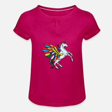 Fable flying unicorn fable - Girls' Ruffle T-Shirt