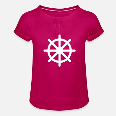 Steering Wheel - Girls' Ruffle T-Shirt