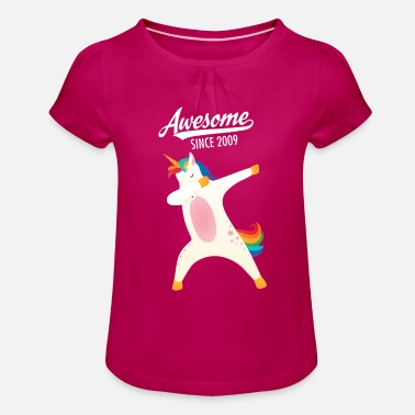 Awesome Since Awesome Since 2009 - Maglietta con arricciatura bambina