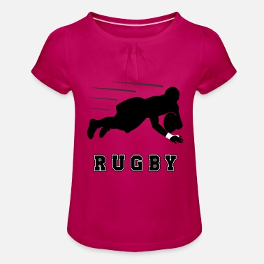 Sports Rugby sports cool gift - Girls' Ruffle T-Shirt