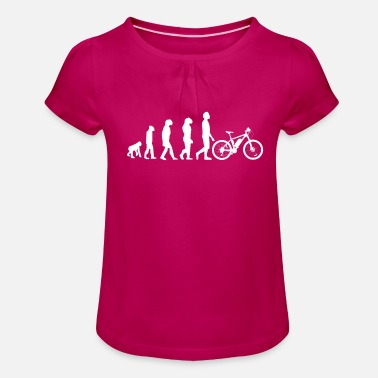 Sumu Lee Vélo de descente Evolution VTT VTT Bike Tour BMX - T-shirt à fronces Fille