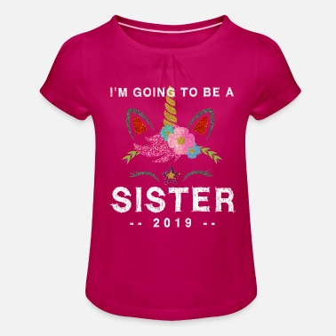 Big Sister I will become a big sister in 2019 - Girls' Ruffle T-Shirt