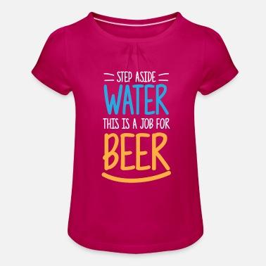 Stout Cerveza divertida regalo agua tienda de cerveza Stark - Camiseta con  drapeado niña 40701605442ed