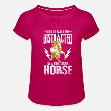 Pony equestrian - Girls' Ruffle T-Shirt