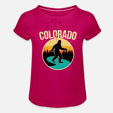 Colorado Squatch jaktskjorta - Bigfoot Hunter Sh - T-shirt med rynkning flicka