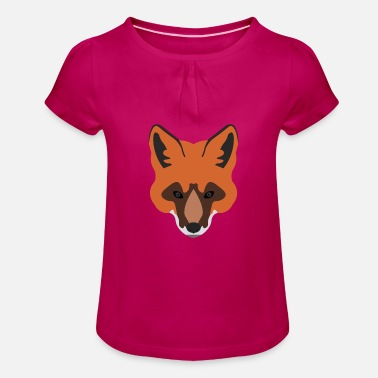 Red Fox - Animal - Cute - Gift idea - Girls' Ruffle T-Shirt