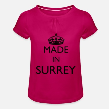 Personalise Personalise: Made In Surrey - Girls' Ruffle T-Shirt