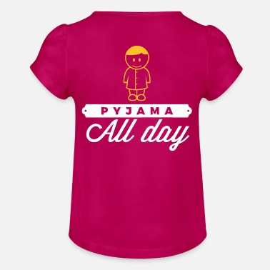 Since Underwear Throughout The Day In Your Pajamas! - Girls' Ruffle T-Shirt