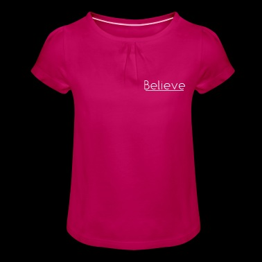 Believe in white - Girl's T-shirt with Ruffles