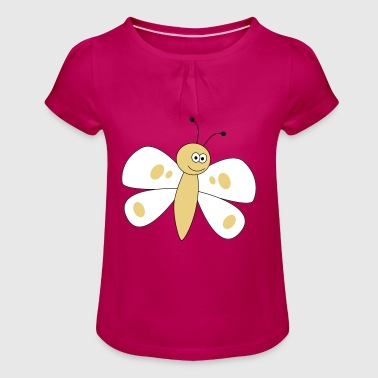 butterfly - Girl's T-shirt with Ruffles