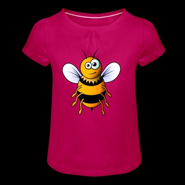 abeille bande dessinée - T-shirt à fronces au col Fille