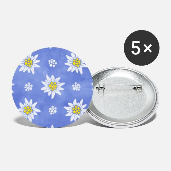 Homedecor Buttons - ALPINE EDELWEISS ON PURPLE - Small Buttons white