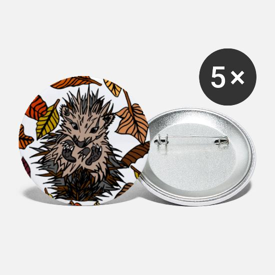 Hedgehog Buttons - Prickles the Hedgehog | Felicity Parish - Small Buttons white