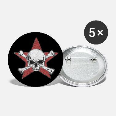 skull and red star - Small Buttons