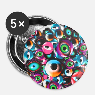 Monster Eyes Party - Buttons small 25 mm