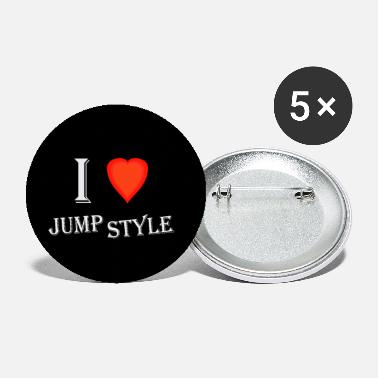 Jumpstyle I love Jumpstyle - Buttons klein