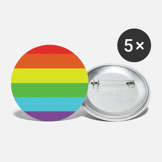 Gay Pride Buttons - trots - Buttons klein wit