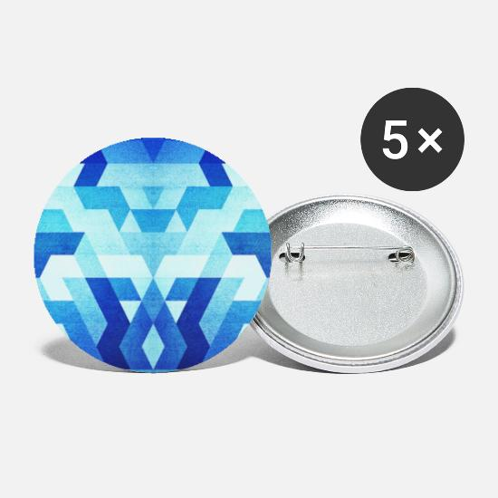 Homedecor Buttons - Blue Geometry Triangle Pattern - Handy Case - Small Buttons white