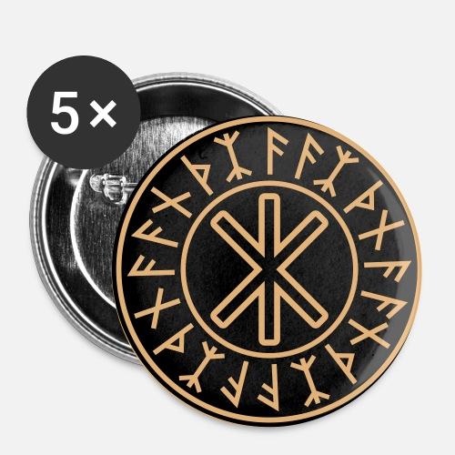 Odins Schutz Symbol No22c Buttons Klein Spreadshirt