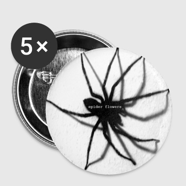 spider - flowers - Buttons small 25 mm