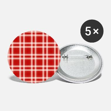 Tartan in red - Buttons klein
