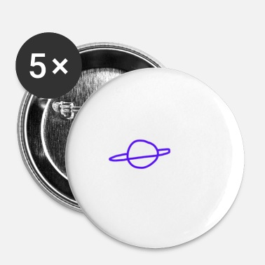 Planeet planeet - Buttons klein 25 mm (5-pack)