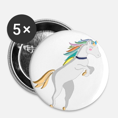 Paillettes Paillettes de licorne - Badge petit 25 mm