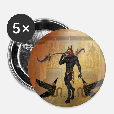 Mythologie Anubis de Egyptische god - Buttons klein 25 mm (5-pack)