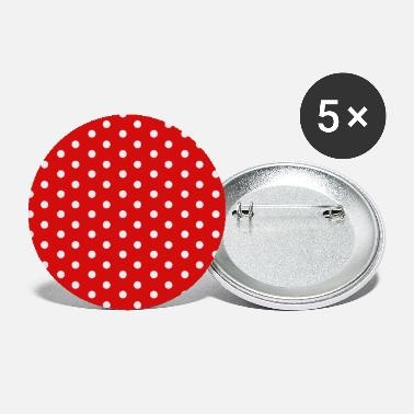 Dots pattern red white - Small Buttons