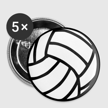 Volleybal - Buttons klein 25 mm