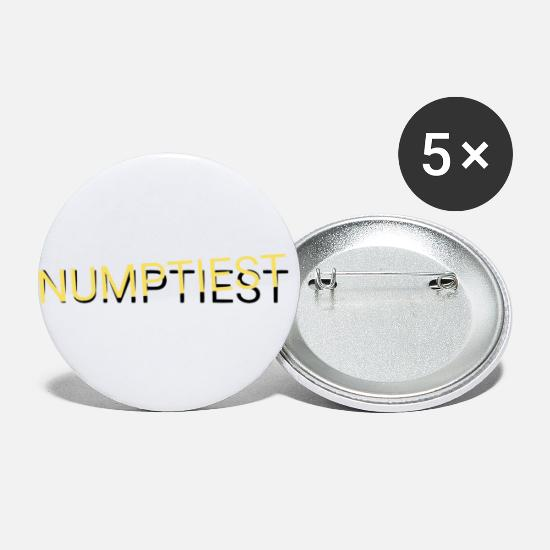 Scottish Slang Numptiest Buttons small 1''/25 mm (5-pack) - white