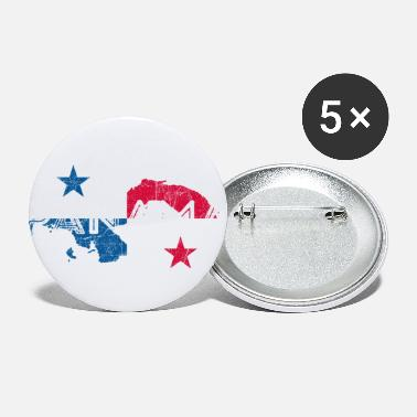 Map Panama Map and Flag - Small Buttons