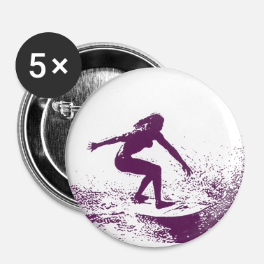 surfergirl - Buttons small 1''/25 mm (5-pack)