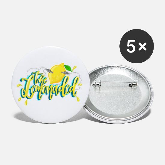 Stylish Buttons - Juiced Up! - Small Buttons white
