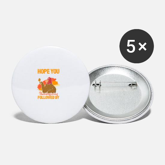 Høst Buttons & badges - Thanksgiving Thanksgiving Harvest Fall Gift - Små buttons hvid