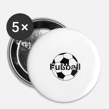 Ballon De Foot Police de ballon de foot au milieu - Badge petit 25 mm
