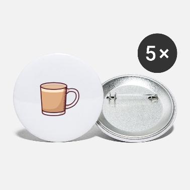 Drinking Coffee Coffee: Your Source of Caffeine - Small Buttons