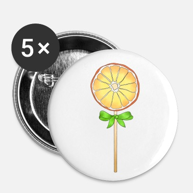 Målning Lolli Lollipop Orange Gift - Små knappar 25 mm