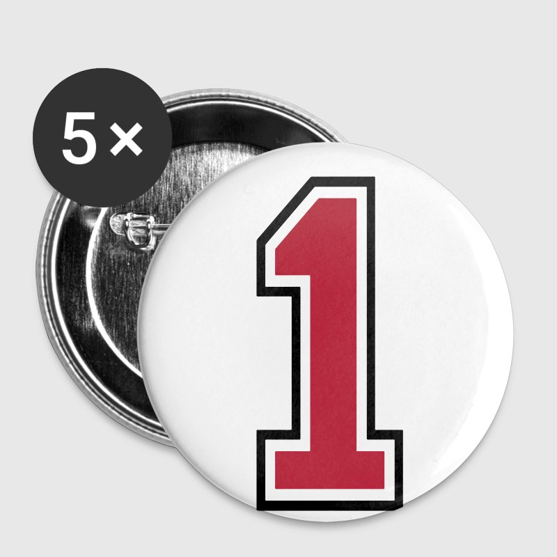 Number One - 1 - Buttons small 25 mm