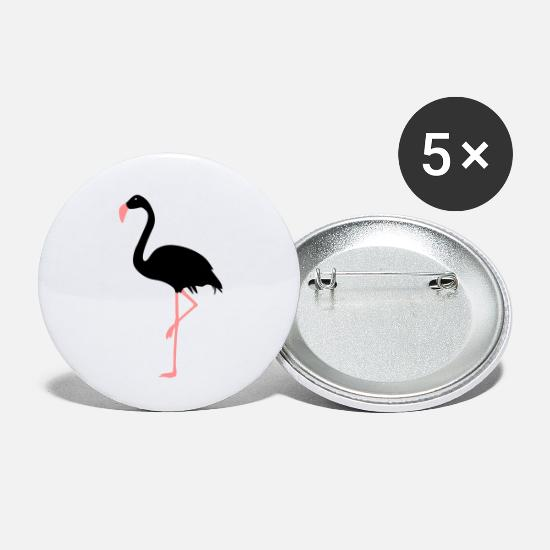Flight Buttons - Flamingo - Small Buttons white