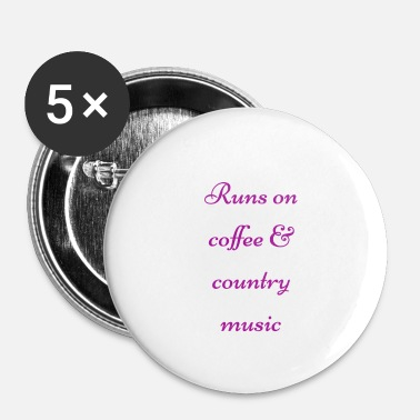 Country Coffee & country - Badge petit 25 mm