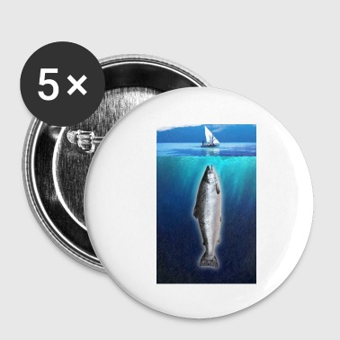 Killer salmon - Buttons small 25 mm