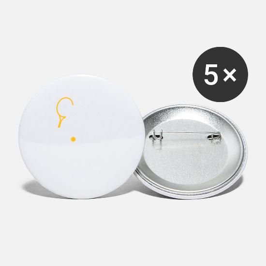 Symbol  Buttons - A Tennis Player Plays The Ball - Small Buttons white