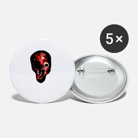 Boss Buttons - Death in Drawing - Small Buttons white
