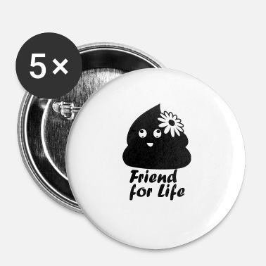 Caca friendforlife blak - Badge petit 25 mm