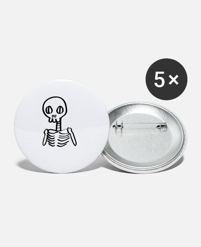 Graf Buttons - Skelet skelet Halloween Comic - Buttons klein wit