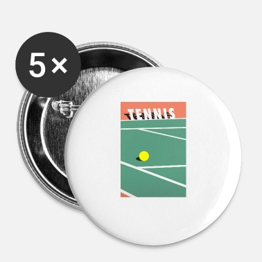 Court De Tennis Minimaliste Court de Tennis Sports - Badge petit 25 mm