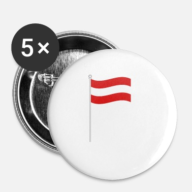 Østrig Østrig flag emblem gave ikon tegn - Buttons/Badges lille, 25 mm