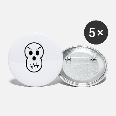 Grimmig grimmiger Totenkopf - Buttons klein